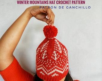Winter Mountains Hat Crochet Pattern