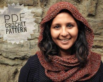Fiorentina Hooded Scarf Crochet Pattern