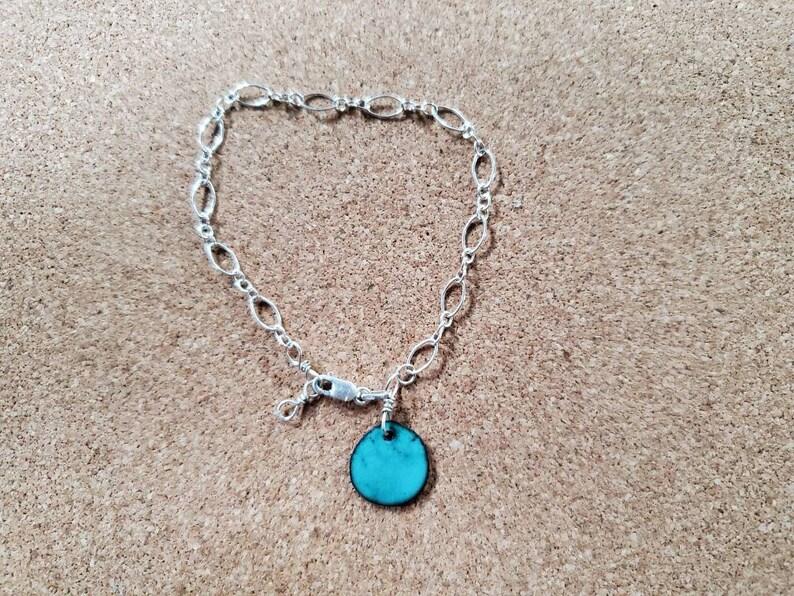 Adjustable Sterling Silver Charm Bracelet