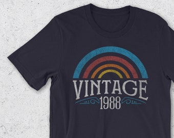 9ae4e63f78a 30th Birthday Gifts for Her   Him - Vintage 1988 T-Shirt- Retro Men Women - 30th  Birthday Gift Ideas 30th Birthday Shirt- 1988 Shirts