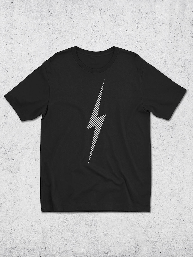04139c6fa09f19 White Lightning Bolt Graphic Tee Graphic Design T-Shirt | Etsy