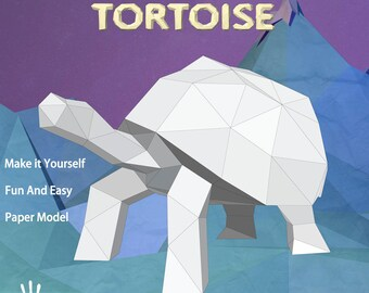 Papercraft Tortice, Perfect gift.