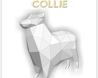 Dog Papercraft template Instant Download 2018 year of the | Etsy