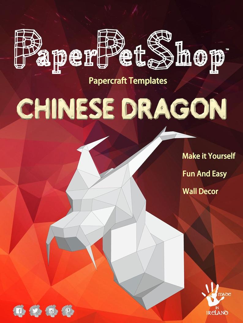 Papercraft Dragon Wall decor ideal Christmas gift
