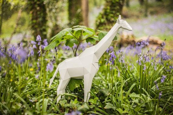 Giraffe Printable Papercraft Template Paper Model Etsy