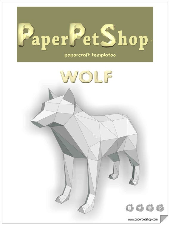 Wolf Papercraft Template Instant download | Etsy