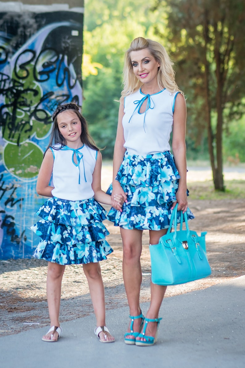 49689433a14 White Blouse White Summer Top Matching Mommy And Me Set