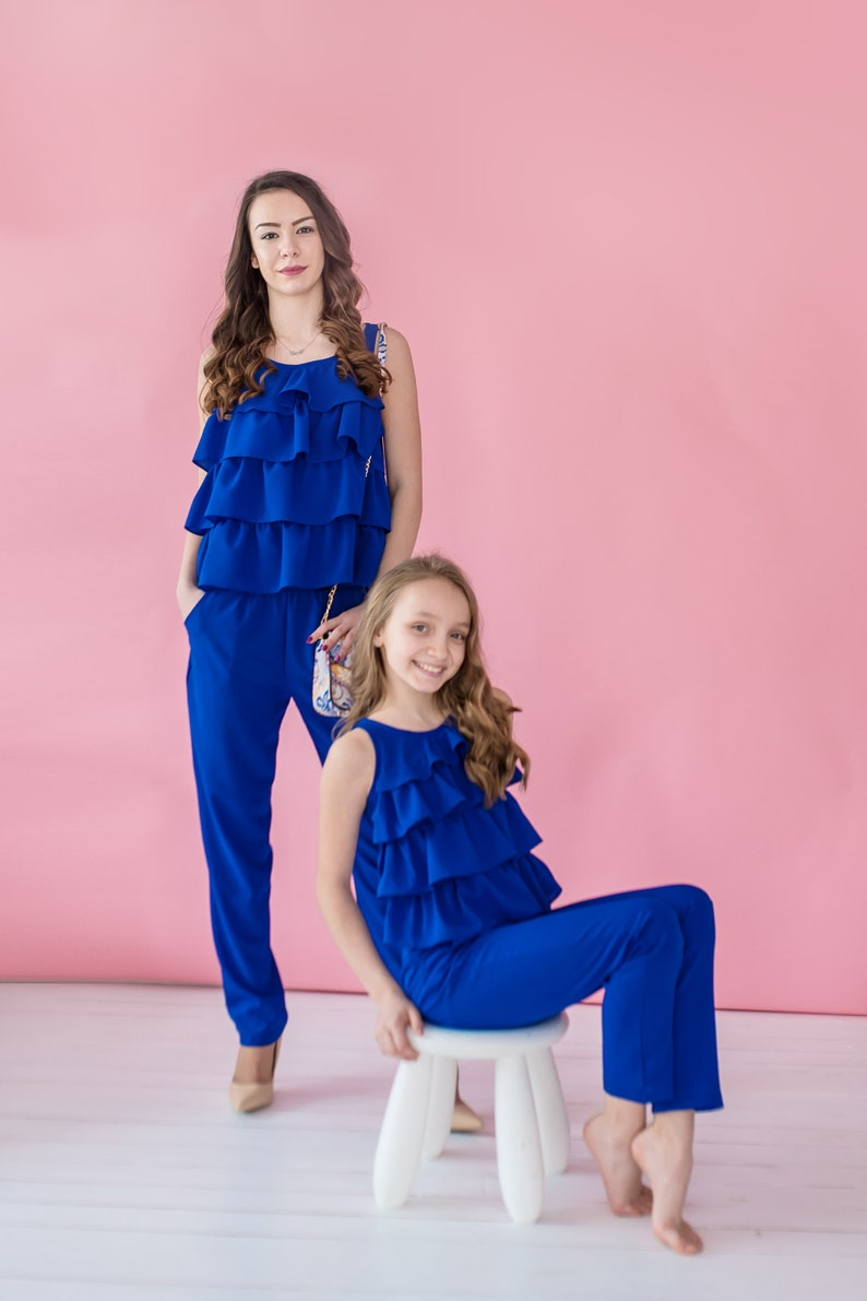 aba96ea10748 Mother Daughter Matching Dress Jumpsuit Romper Mommy and Me