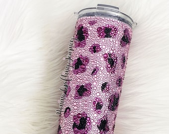 Made to Order Rhinestones Tumbler | Glitter Dipped Tumbler | Stainless Steel Tumbler | Personalized Glitter Tumbler | Personalized Tumbler