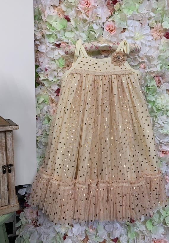 Rose Gold Dress For Girls Size 6 Champagne Tulle Dress Etsy