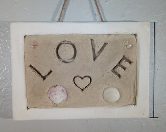 Hand Crafted Wall Art Made from Sand and Shells | Beach Art | Wall Hangings