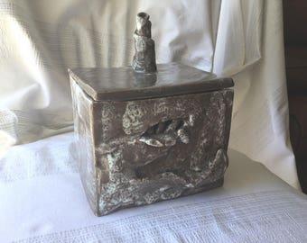 Handmade ceramic rectangular box