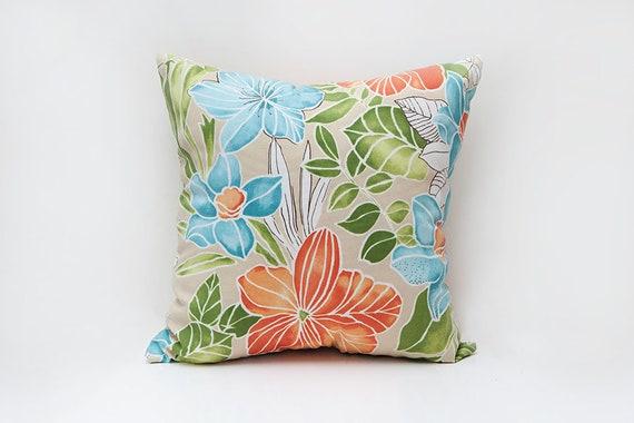 colorful outdoor pillow orange blue outdoor pillow pillow