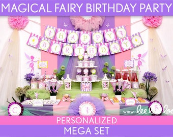 Magical Fairy Birthday Party Package Collection Set Mega Personalized Printable // Magical Fairy - B95Pz2