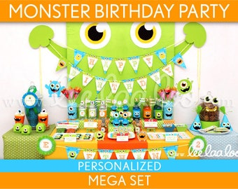 Little Monster Birthday Party - Mega Set Personalized Printable // Little Monster - B106Pz2