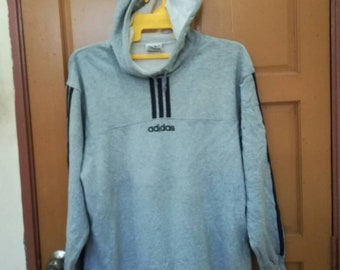 562dcc15ac13b1 Vintage adidas / sweater / sweatshirt / shirts / hoodies / large size /  skate hip hop sport punk rock / big logo / embroidery logo (k2)