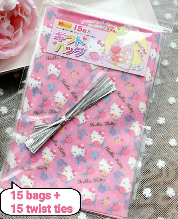 15 Hello Kitty Gift Bag Cookie Bag Twist Tie Sanrio Gift Bag 2512592b85142