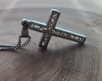 Mens crucifix Etsy
