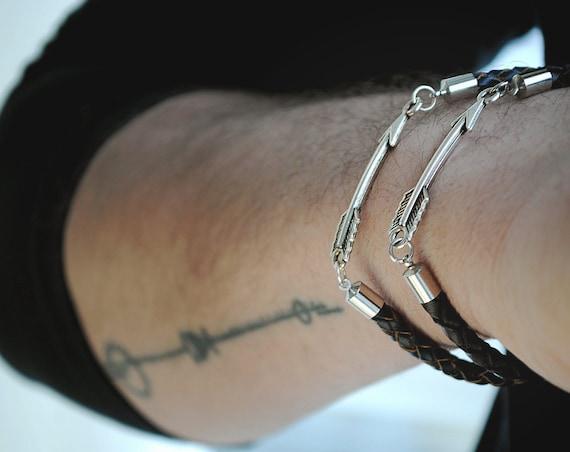 Arrow Bracelet Friendship Bracelet Viking Arrow Hunter Etsy