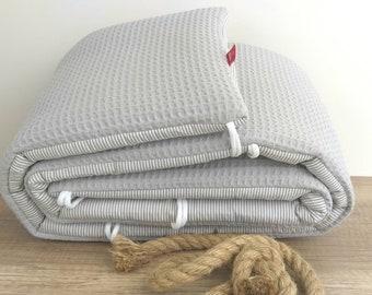 BETTNESTCHEN - NESTCHEN - WAFFELSTOFF bed border for cot 120 x 60 cm + 140 x 70 cm, running grille, extra bed, cradle 40 x 90 cm, Babybay Maxi
