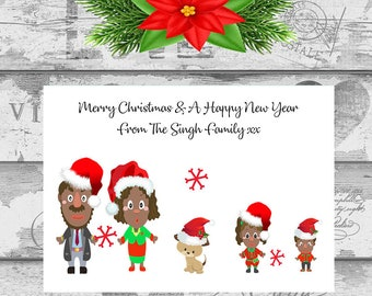 Muslim holiday cards etsy personalised christmas cards x 10 free envelopes family friends indian sikh muslim 3 m4hsunfo