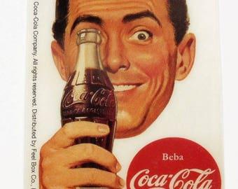 Retro Kühlschrank Cola : Coca cola aufkleber etsy