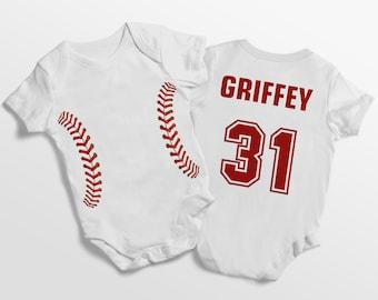 acfa511ec Personalized baseball onesie