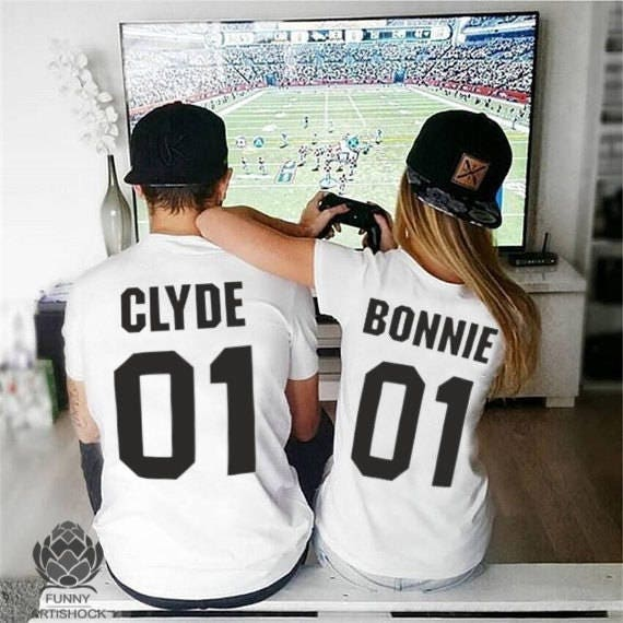 cceeeb1b7d Bonnie Clyde 01 matching shirts Bonnie Clyde Couples Shirt | Etsy
