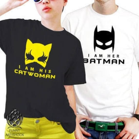 Batman And Catwoman Couples T Shirt Set