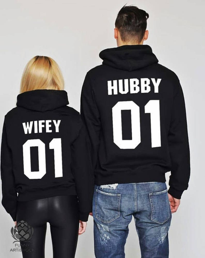 40d918ea8e Hubby and Wifey set of 2 couple Sweaters Hubby Wifey Couples | Etsy