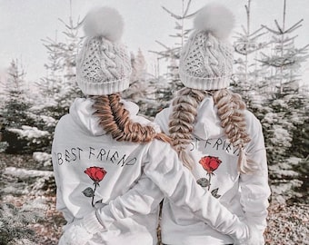 BEST FRIEND Couples Hoodies, Best friend sister, Hoodies for couples, Matching Couple Sweaters, BFF Hoodies, Christmas sweater