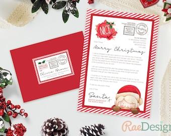 Letter from Santa - Santa Letter, Father Christmas Letter, Printable Letter, Instant Download, Nice List Letter, Christmas Letter, Template