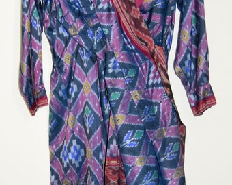 bdd8794bd07b03 DRIES VAN NOTEN  Tafzijde  etnische  midi-jurk tuniek