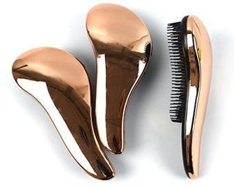 Rose Gold Hairbrush Etsy