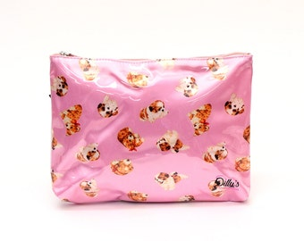 Puppy Love Cosmetic Bag  Makeup Case Travel Accessories Toiletries