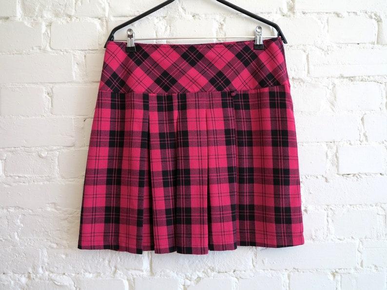 a90f3d6328d Black Pink Skirt Tartan Plaid Skirt Schoolgirl Skirt Mini Skirt Pleated  Skirt Checkered Skirt Back to School Skirt Medium to Large Size