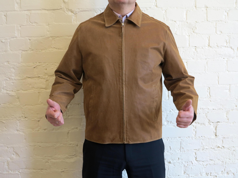 Veste en cuir pour homme grande taille