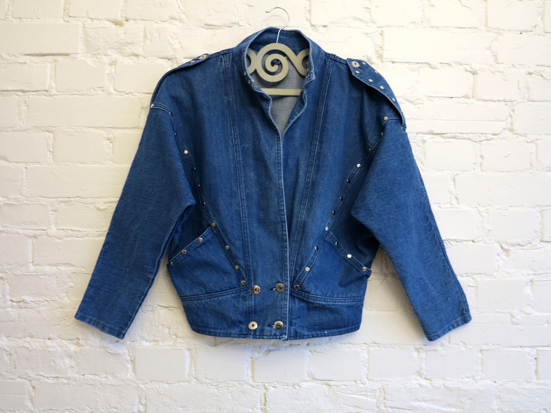 6309bd7912e Blue Denim Jacket Vintage 80s Fashion Jeans Jacket Kimono