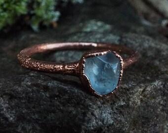 Aquamarin Ring Etsy