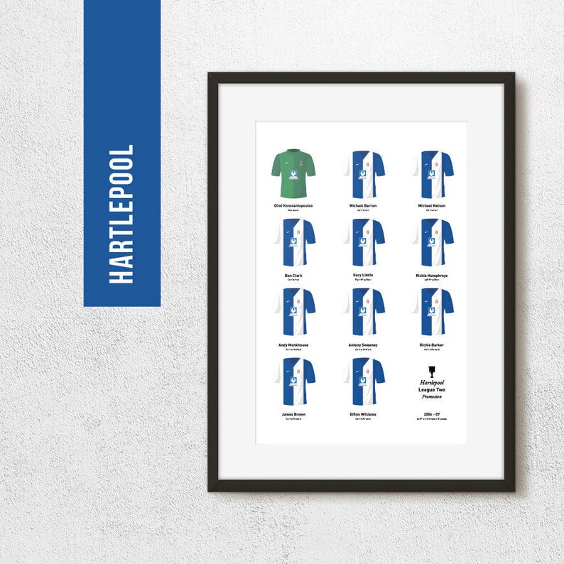 HARTLEPOOL 2007 League 2 Promotion Print Football Poster image 0