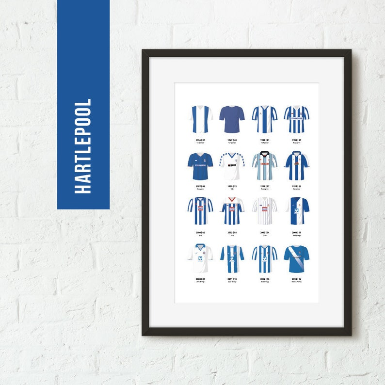 ICONIC Hartlepool Classic Kits Print Football Poster image 0