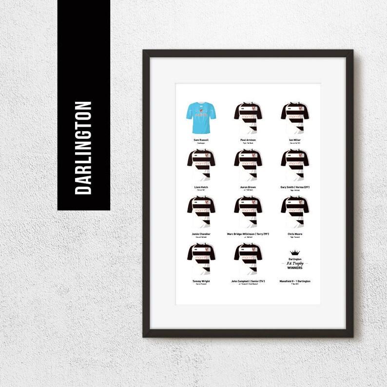 Darlington 2011 FA Trophy Winners Team Print Football Poster image 0