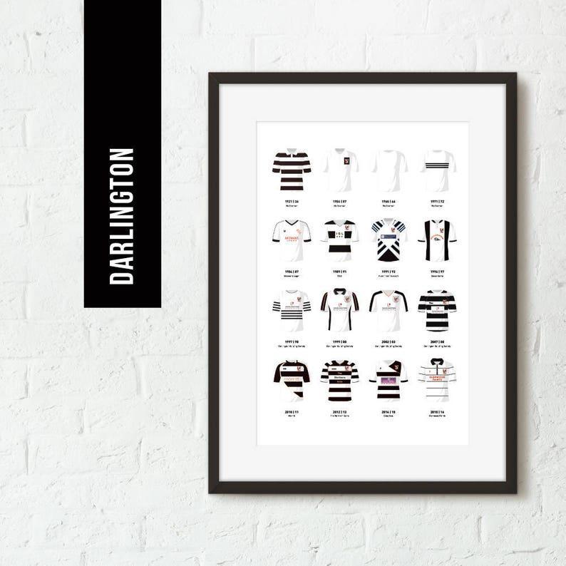 ICONIC Darlington Classic Kits Team Print Football Poster image 0