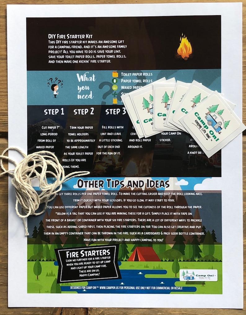 Camp On!\u00ae Brand DIY Firestarter Kit