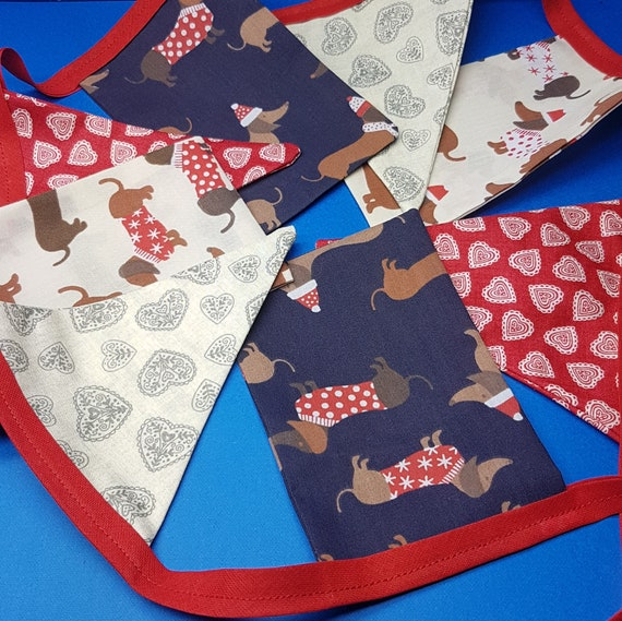 Sausage Dog Christmas Bunting