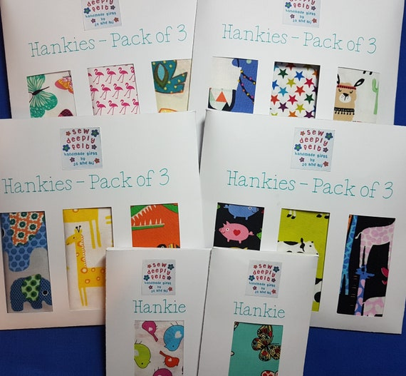 Animal Hankies | Pocket Square | Pack of 3 or Individual