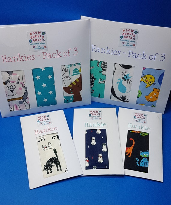 Cat Hankies - Individual or Pack of 3
