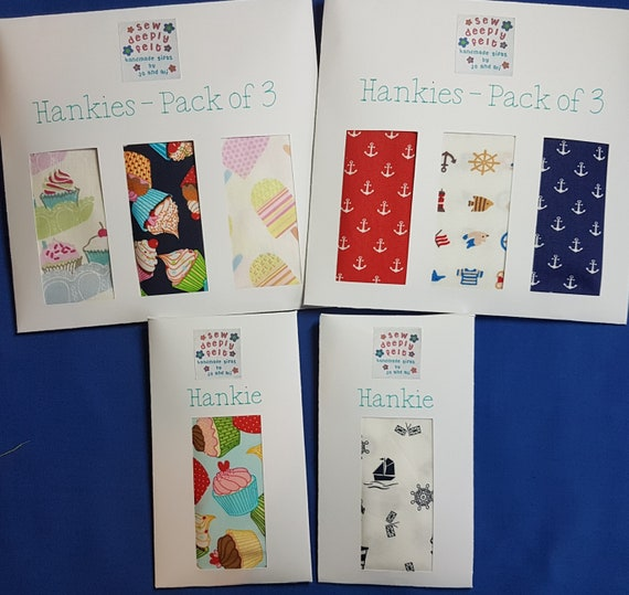 Food | Nautical Hankies | Pack of 3 or Individual