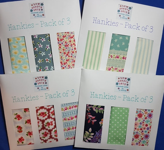 Floral Hankies | Pocket Square | Pack of 3 or Individual
