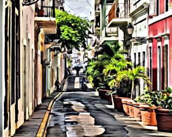 Little street of San Juan Puerto Rico